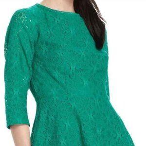 Gorgeous Lace Green Peplum SZ 8